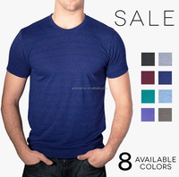 New arrival Wholesale Mens Tri-Blend T-Shirt Vintage Style Track Tee Shirt