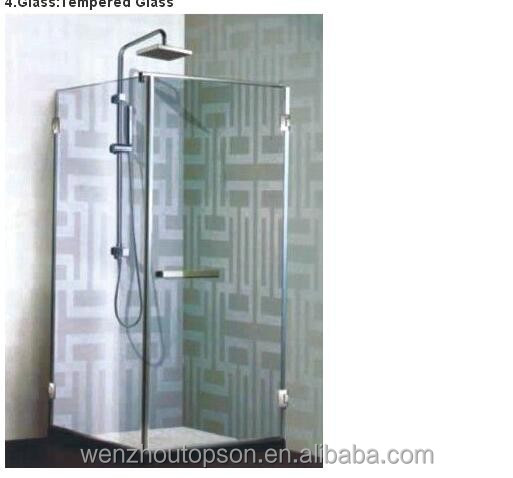 Tempered glass swing bathroom shower door/Bath screen