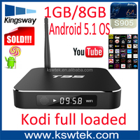 100% orginal amlogic s905 t95 tv box full hd 4k metal case t95 astro android tv box apk dual wifi with antenna