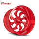 Red Colored Aluminum Forged American Off Road Racing Car Wheel