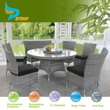 Back Wicker Outdoor Dinning High Chair And High Table Set Poly Rattan  Garden Furniture