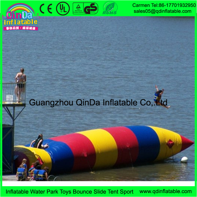 How much is a inflatable water launch pad the blob inflatable toy for lake or seaside