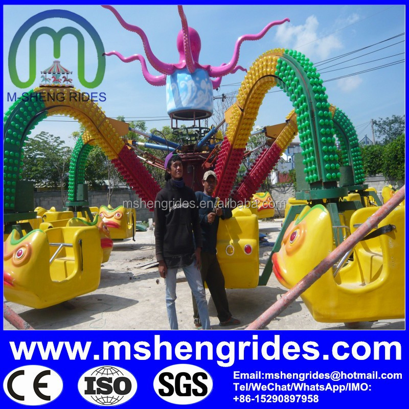 Thrilling Outdoor Amusment Park Rides Top Spin Rides Hurricane Carnival Rides for Sale