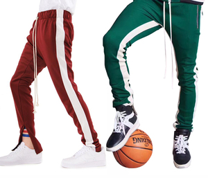 Custom Men Mens Casual Elastic Waist Streetwear Sweat Suits Jogger Pants