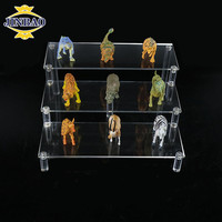 JINBAO custom clear acrylic display stand cheap jewelry display stand PMMA luxury cosmetic eyelash display stand