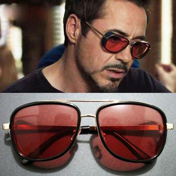 fe61a06fe0 Iron Man 3 Tony Stark Steampunk gafas de sol hombres marca de lujo 2018  soldado gafas