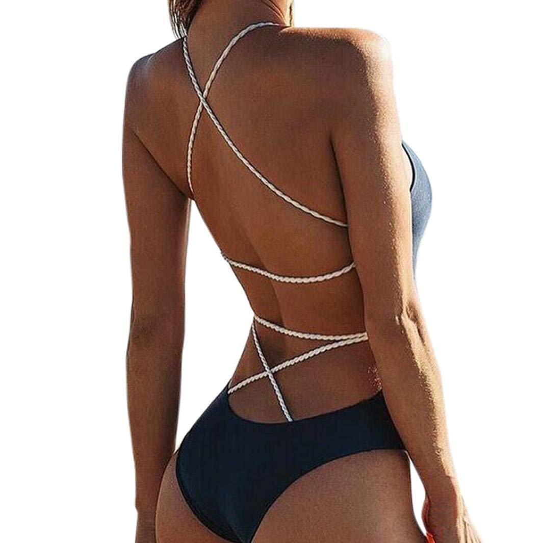 3114259dcb Get Quotations · HP95 One Piece Bandage Swimsuits for Juniors,Sexy Women  Thong Bikini Swimsuit Swimwear Bathing Suit