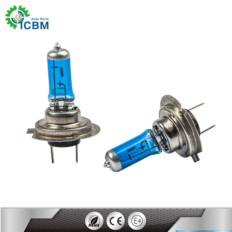 Replace high performance brightness car accessory auto light halogen lamp 12v 55w H7 halogen bulb for car