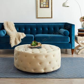 Stupendous Factory Designer Furniture Elegant Design Round Ottoman Living Room Furniture Button Tufted Round Upholstered Sofa Set Bench Buy Bench Sofa Set Ibusinesslaw Wood Chair Design Ideas Ibusinesslaworg