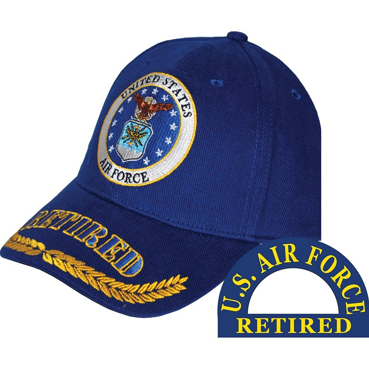 Get Quotations · United States Air Force Retired Blue Hat Cap USAF 60360d561d15