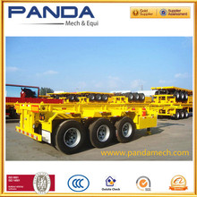 Factory price 20ft 40ft skeleton container semi trailer, container chassis truck trailer with twist lock and hoops for sale