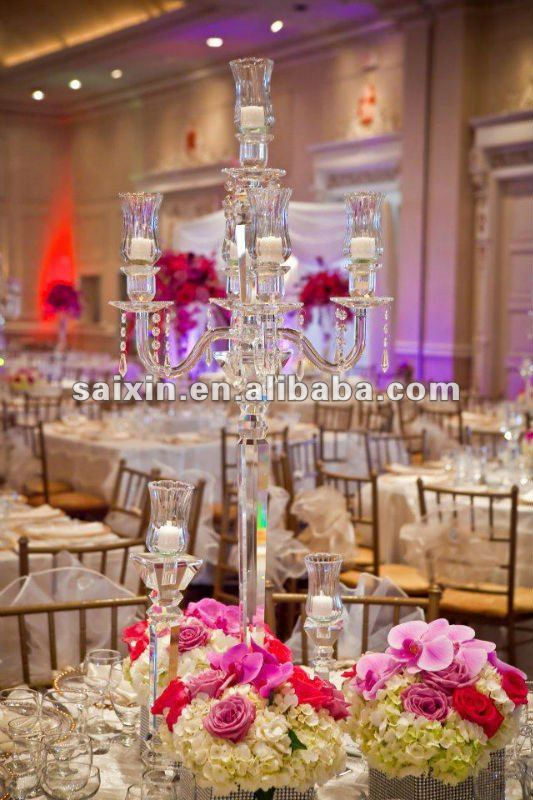 Beautiful Crystal Candelabra For Wedding Centerpiece Table Candelabras Chandelier Candle Holder Product On Alibaba