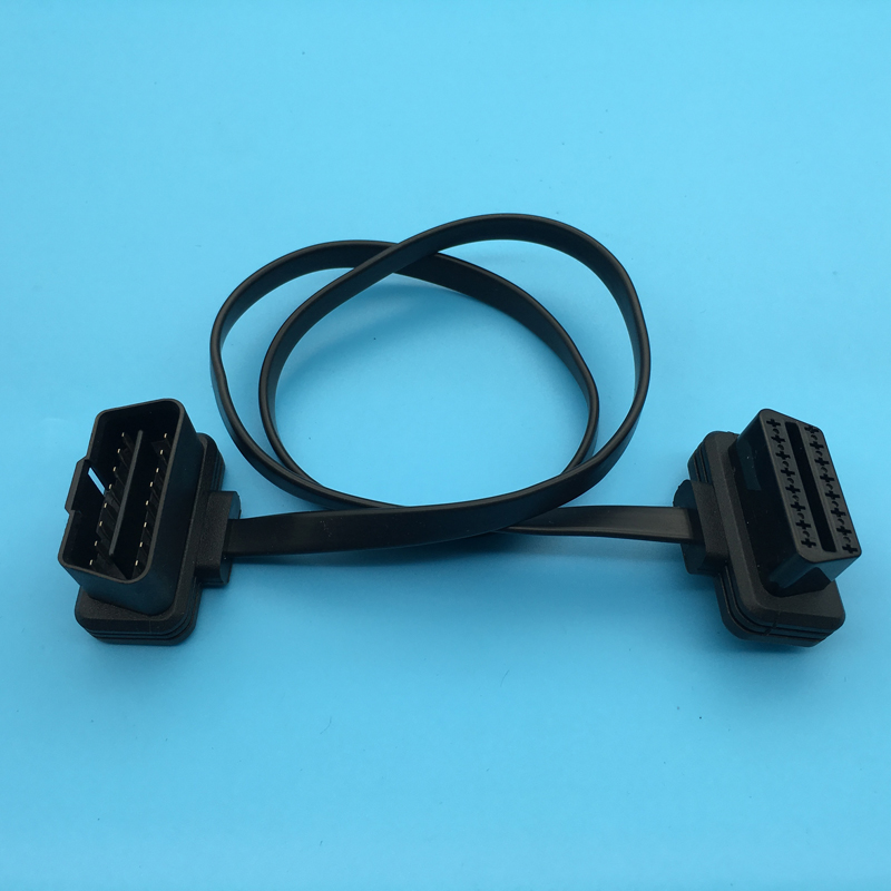16Pin Male To 16Pin Female Flat Extension OBD2 Cable