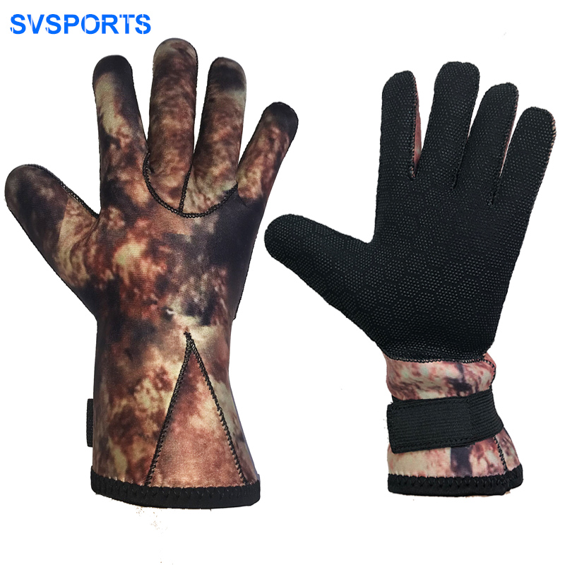 Divestar 3mm Glued Anti-slip Flexible Thermal Neoprene diving gloves