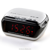 2 clock alarm setting wireless speaker, support android mobile control