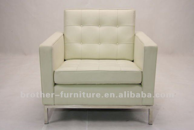 Best quality hot sale Florence Knoll one seat sofa leather sofa Shenzhen Brother Furniture