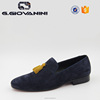 One piece yellow tassel colorful suede men loafers for men 2016