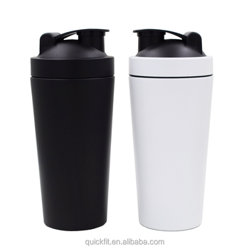 hot sell 304 stainless Steel 750ML Metal Protein Shaker Bottle with unique  custom own design e7bc338ab