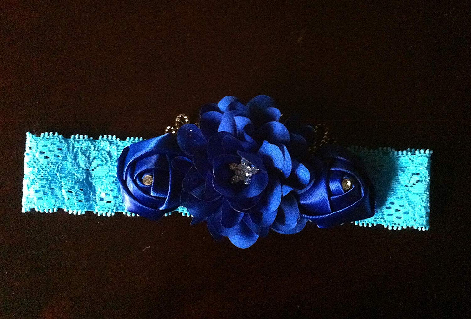 Get Quotations · Royal Blue flower girl headband Baby headbands Couture headband  Baby girls headband lace f653d0507ef
