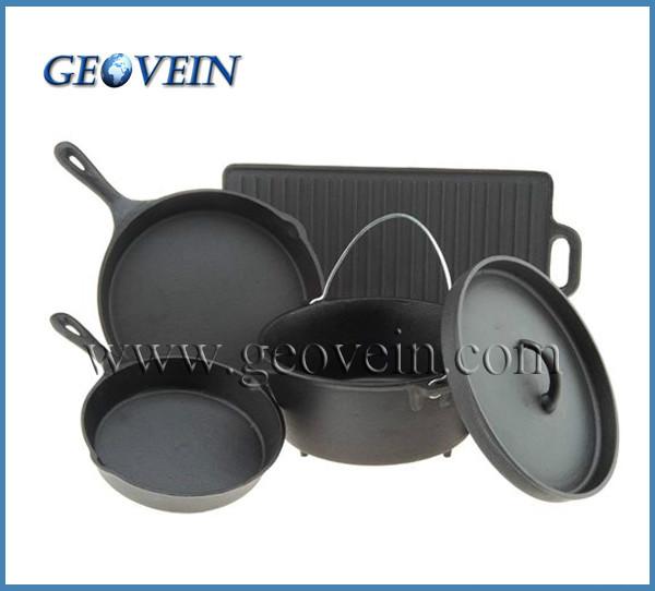 Cast Iron Griddle Dutch Oven Skillet Frying Pans Pot ...