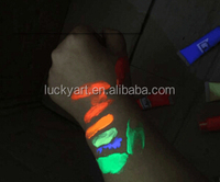 Fluorescent UV Neon Colorful Liquid Glow Body Painting