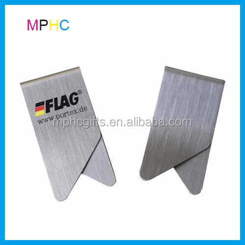 promotional custom printed wing shape flat metal stainless