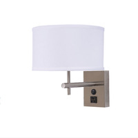 Modern Decorative single wall lamp/sconce lamp double wall lamp with power outlet for hotel
