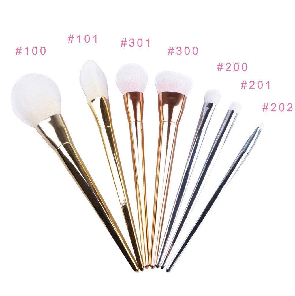 Redcolourful 7Pcs Practical Cosmetic Makeup Brushes Multifunctional Makeup Brushes Set Tools
