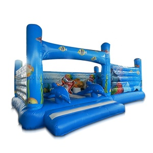 Sea world Inflatable Bounce House dolphin Bouncy House Castle for Kids Party with Air Blower inflatable bouncer
