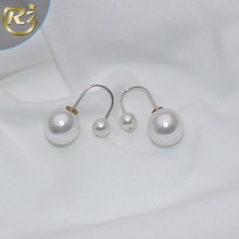 EH-20 Noble Dowager Classical Bride Component Latest Gold Design With Pearl Earring
