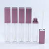 New items Luxury Square acrylic lip gloss tube with sponge applicator hot selling waterproof lip cosmetic tube
