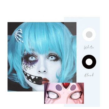 Hot sale Fancy Cosplay Halloween Contact Lens Soft Crazy Eye Green Contact Lenses Malaysia