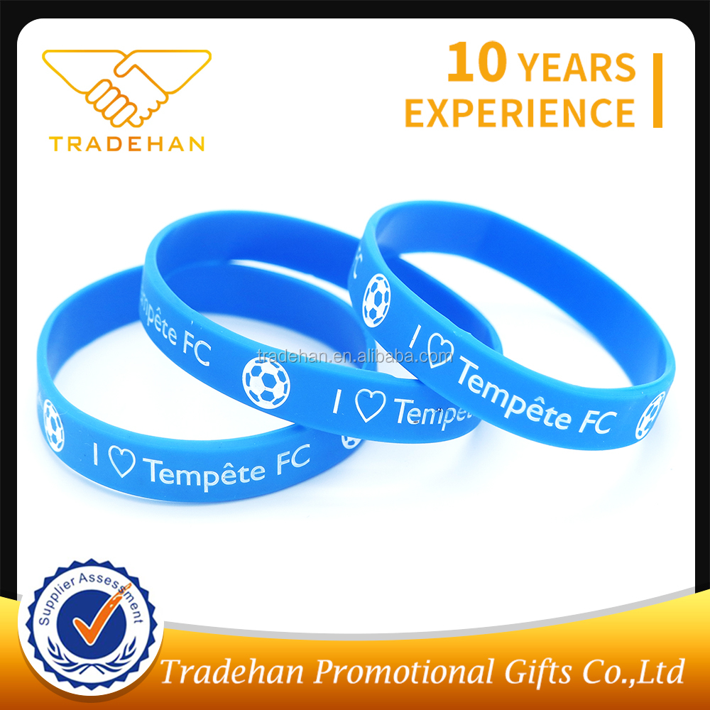 Custom logo printed segmented colors silicone rubber wrist band bracelets