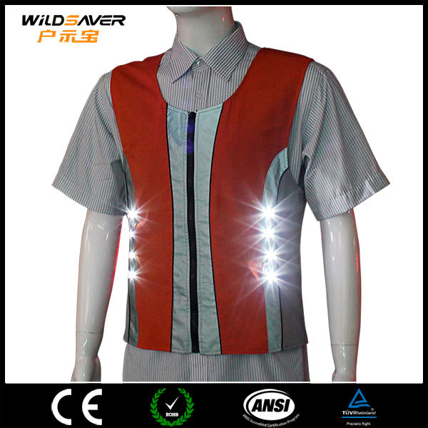 authentic sports reflective running fashionable LED orange vest