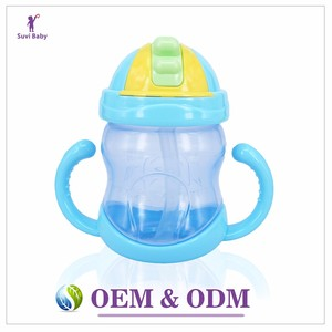 Alibaba new design Baby Product BPA Free Plastic Baby Sippy Cups With Straw