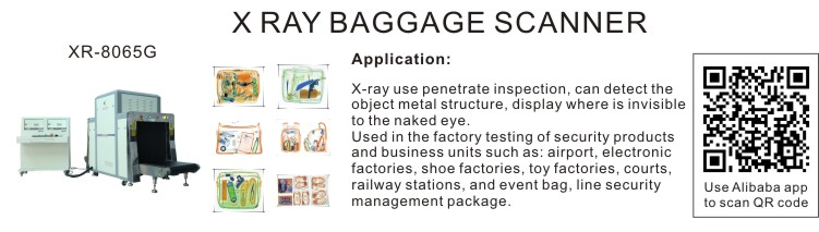Airport security check equipment XR-8065 x-ray baggage scanner luggage scanner