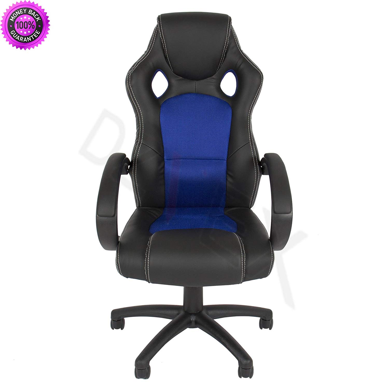 DzVeX_Executive Racing Gaming Office Desk Chair PU Leather Swivel - Back (Blue) And home office desk home office furniture collections modular home office furniture office furniture office