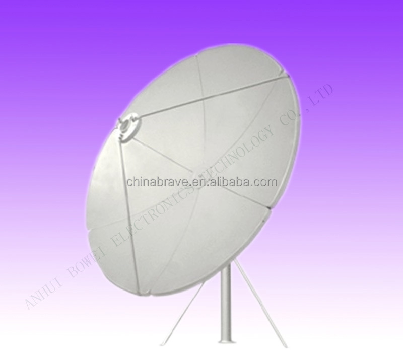 C band 1.8 2.4 3 3.7m 12 10 8 6feet satellite dish/tv/wifi/car tv/3g/hdtv fiber satellite dish antenna & receiver