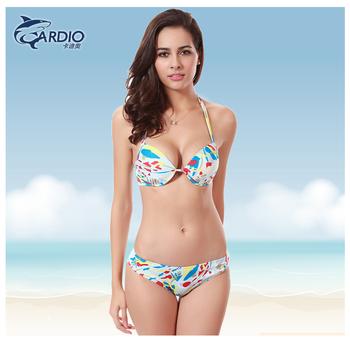 Китай поставка OEM оптовая Пакистанская девушка бикини фото индийский пляж  бикини картина печатных купальники a79b7781b03