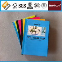 made in China T/T & L/C payment colourful writing french rule notebook