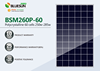 Bluesun high efficiency POLY solar pv panel 260w use for commercial