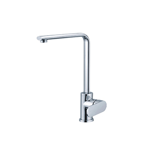 Deck mount water saving long neck vertical kitchen tap