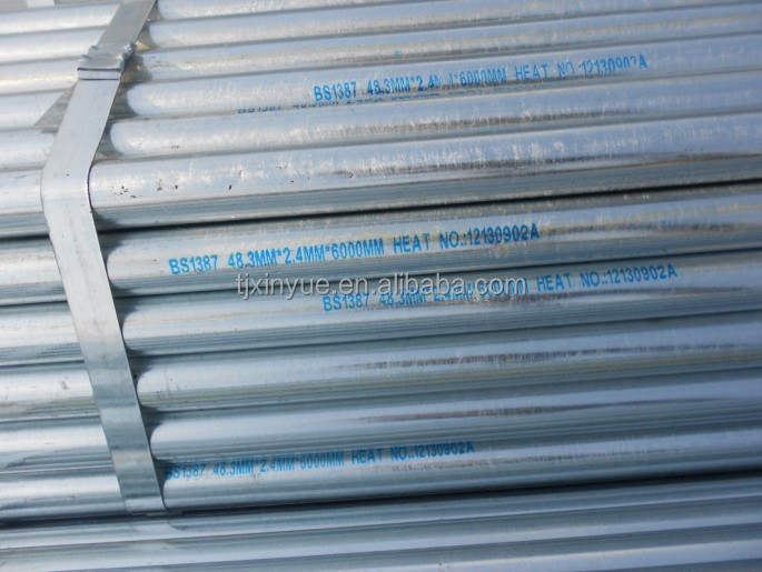 new products Q345C DN 50mm Greenhouse steel pipe, schedule 40 galvanized steel tube