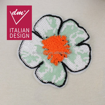 Hot Sale Embroidery Sequin Applique Flower Motif Work Design Buy