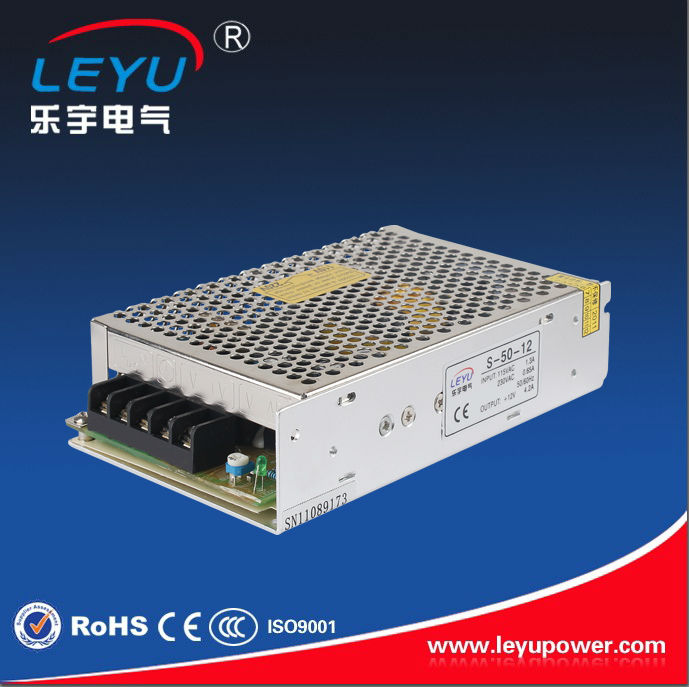 CE RoHS 50w 12V 24V Power Distributor S-50 single output switching power supply for led lighting dc output 12v