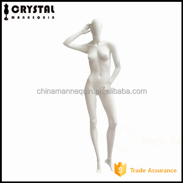 female fancy lady mannequin with abstract head