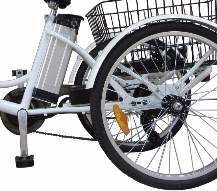 three wheel electric motor bike 24 inch adult big wheel tricycle with basket buy electric. Black Bedroom Furniture Sets. Home Design Ideas
