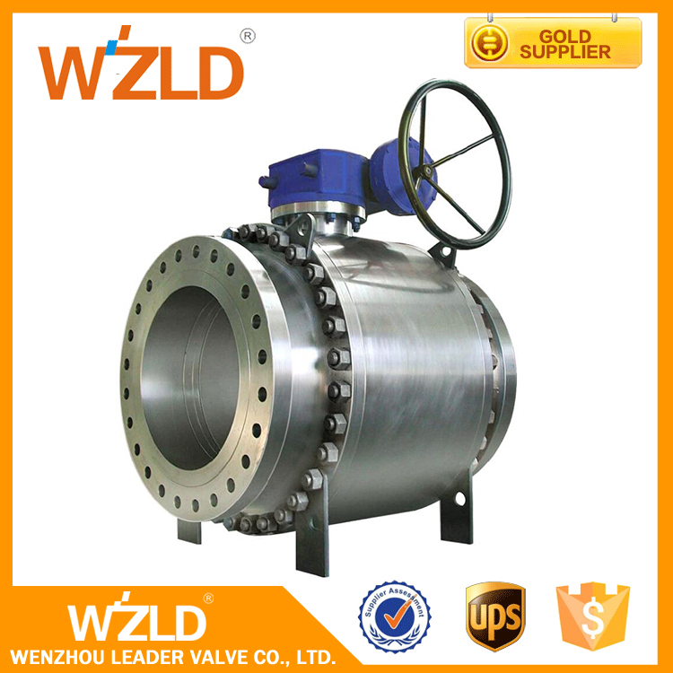 WZLD Medium Temperature Manual Operated Directional Control Forged Steel Trunnion Ball Valve