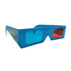 Customized OEM foldable paper red cyan glasses 3d movies anaglyph glasses