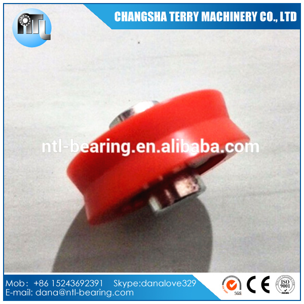 7MM shaft Plastic covered pulley wheel bearing for sliding door and windows